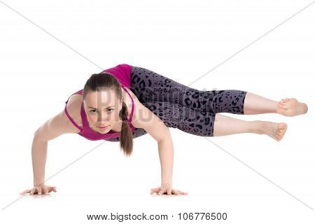 Straight-legged Side Crane (crow) Pose