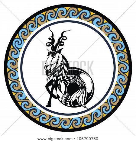 Decorative Zodiac sign Capricornus
