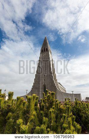 Beautiful Hallgrimskirkja Church In Reykjavik, Iceland