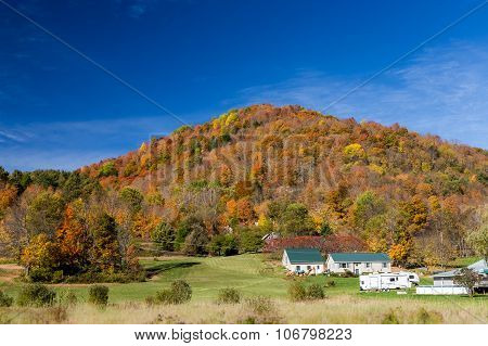 Autumn Foliage In Vermont Countryside