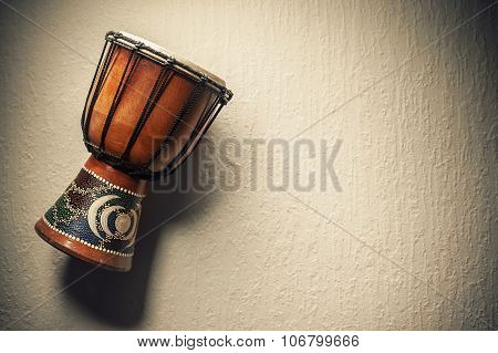 One Wooden Djembe