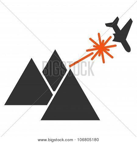 Piramides Strike Airplane Icon