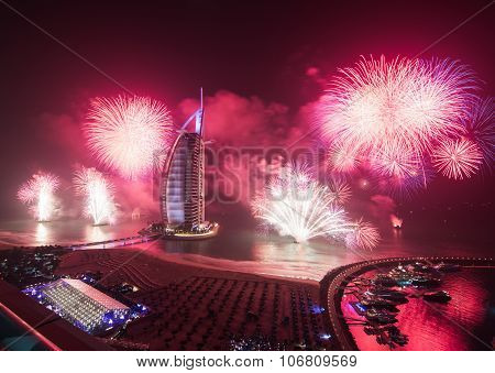 burj al arab new years eve fireworks