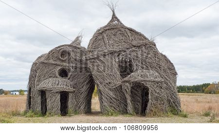 Intriguing Sculpture Created From Tree Saplings