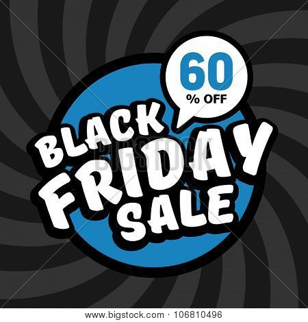 Black friday sale of 60 percent. Vector background.