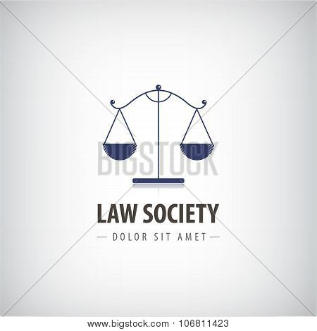 Vector Law office logo, icon. The judge, firm template