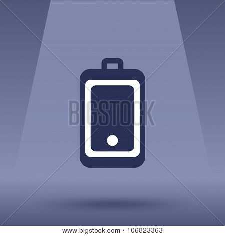 Mobile phone flat icon in a waterproof case