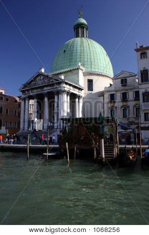 Cathedral On Venice Canal