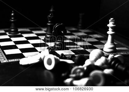 Chess Figures And Board