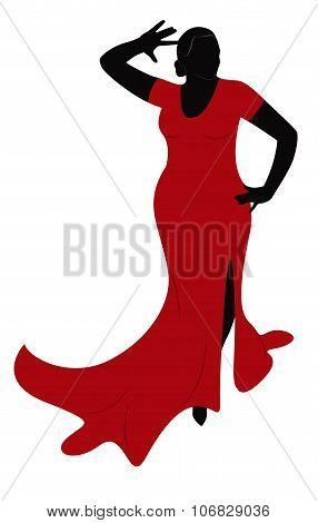 Dancing Plump Woman