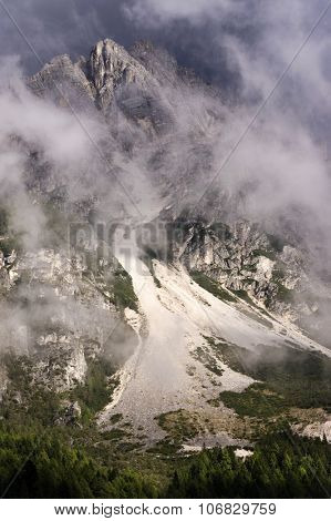 Stromy landscape in the Dolomites, Italy, Europe