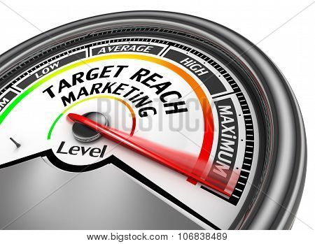 Target Reach Management Level To Maximum Modern Conceptual Meter