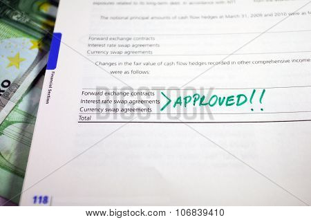 Approved Mark In Anual Report