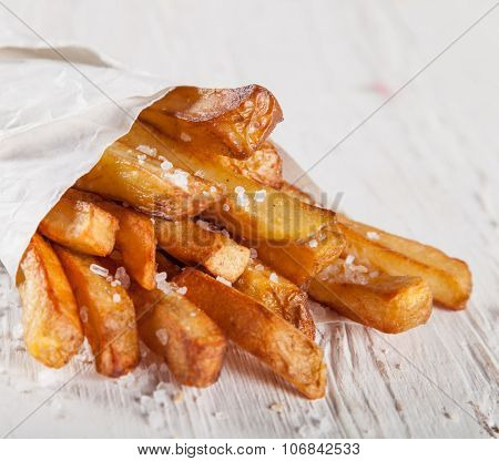 Close-up home made French Fries