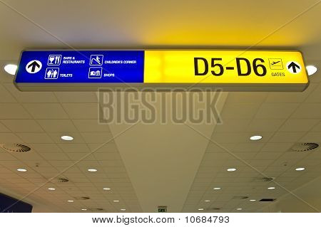 Airport direction sign