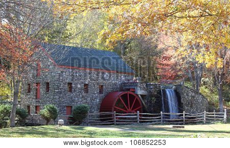 The Old Grist Mill In Fall