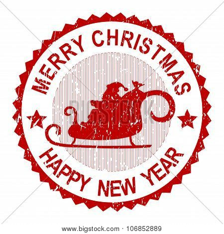 Christmas Greeting Stamp