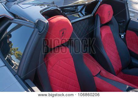 Lamborghini Aventador Interior Detail On Display