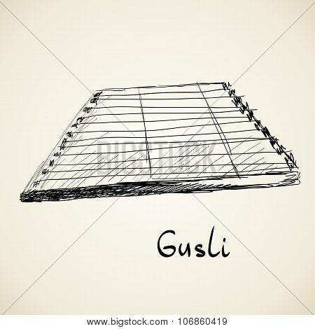 Musical background. Gusli