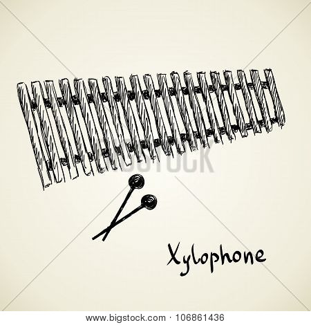 sketch of a musical instrument
