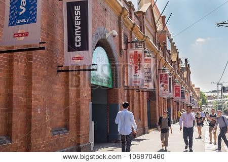 SYDNEY, AUSTRALIA - DECEMBER 31, 2014:Sydney's Paddy's Markets are located in Haymarket and Flemington and specialise in the sale of fruit, vegetables, fish, clothes and giftware.