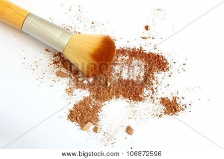 Face Powder and Face Brush