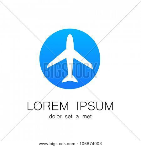 Airplane - logo design template for airlines, travel agencies, travel club, and others.