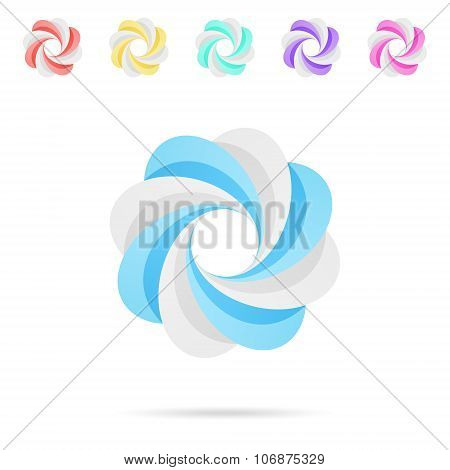 Spiral Colored Segmented Circles