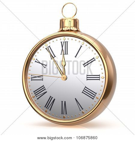 New Year's Eve Clock Midnight Countdown Christmas Ball Time