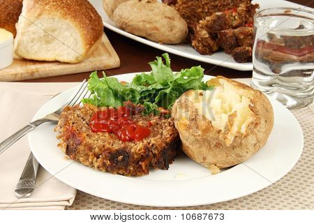 Meatloaf And Baked Potato