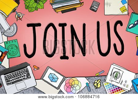 Join Us Team Assistance Support Invitation Concept