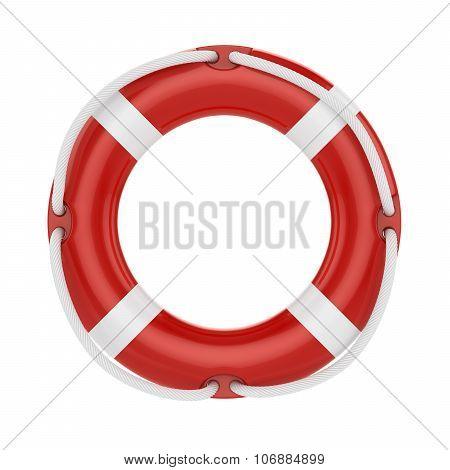 Fesaver, Lifebelt, Lifebuoy With Rope Isolated On White Background
