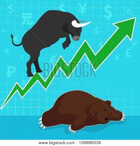 Stock Market Concept Bull And Bear