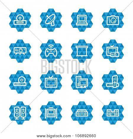 Electronic Appliances Web Icons