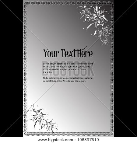 Elegant Vector Lettering In Abstract Style With Place For Text. Perfect For Invitations, Greeting Ca