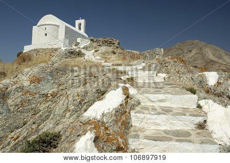 White Church In Serifos Island