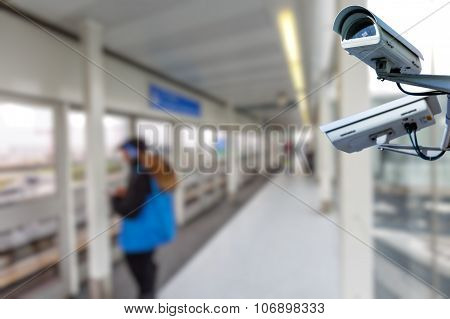 Security Camera In Train Station