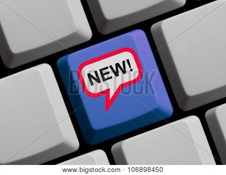 Keyboard With Speech Bubble: New