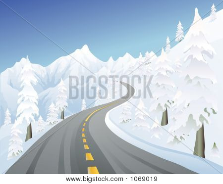 Winter Mountain Road