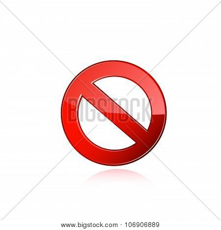 Interdiction sign. Vector