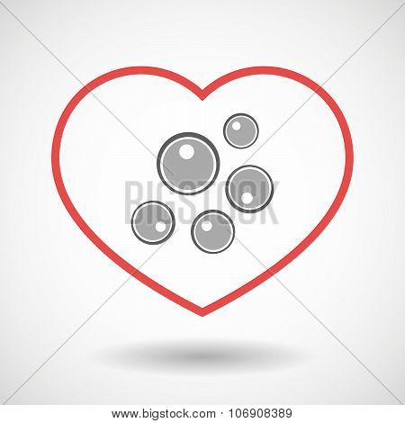 Line Hearth Icon With Oocytes