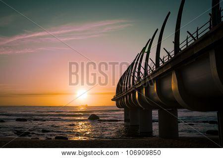 Durban Pier Umhlanga In Sunrise