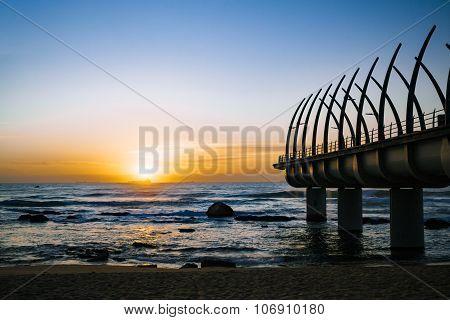 Umhlanga Durban Pier In The Sunrise