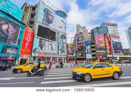 Ximending Square In Taipei, Taiwan