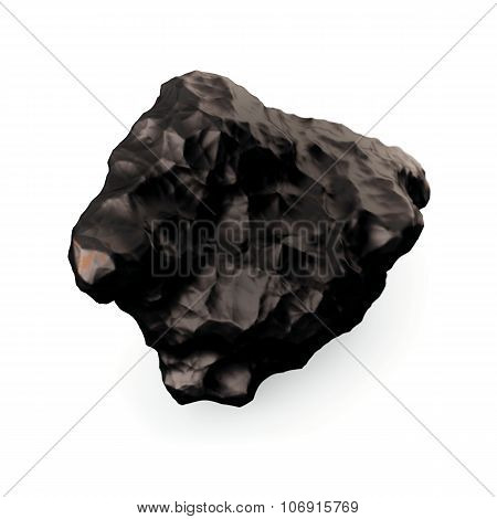 Tektite Meteorite close-up