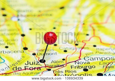 Juiz de Fora pinned on a map of Brazil