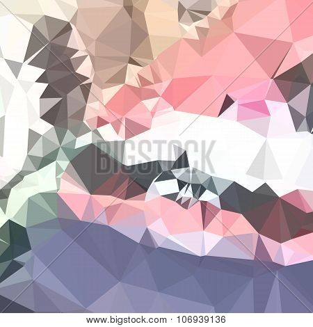 Lavender Pink Abstract Low Polygon Background