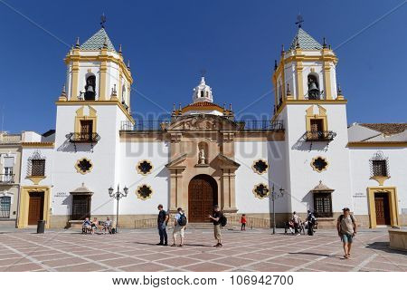 Church On The Main Place Of Ronda