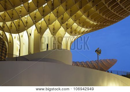 Metropol Parasol at the blue hour