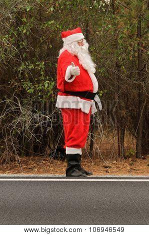 Santa hitch-Hiking